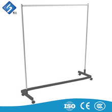 Z Shaped Revolving Metal Garment Display Rack Shelf
