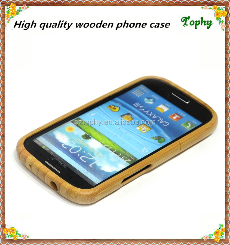 100% Natural Wooden Case for Samsung Galaxy S3 9300, made of high quality bamboo, wood back cover case for samsung s3