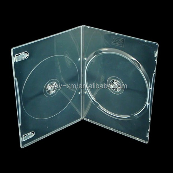 PP 5mm double super clear DVD case/5mm dvd box