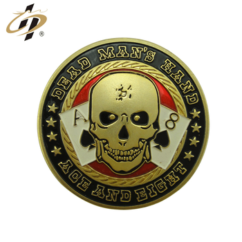 Promotion custom zinc alloy gold metal poker chips