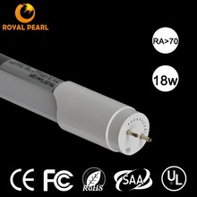 TL cETL DLC CE ROHS SAA listed SMD2835/3528 80Ra Isolated driver 1800lm 5 years warranty 18W ul led tube