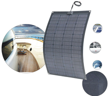 60W Semi Flexible Solar Panel for RV camping charge mobile