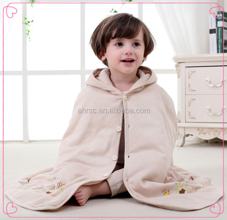 baby cape knitting pattern colored cotton wearable baby blanket