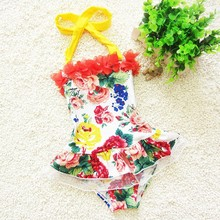 C85712A WHOSALE GIRLS FLORAL SWIMWEAR/girl's hot sale swimwear/wholesale swimwear
