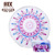 2 person inflatable microfiber round reactive printing beach towel China supplier
