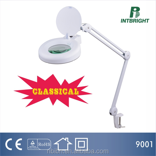 9001fluorescent magnifying lamp 3/5/8 diopter 5 inch Lens 22W magnifier tube light Beauty Lighting Illuminated Magnifier