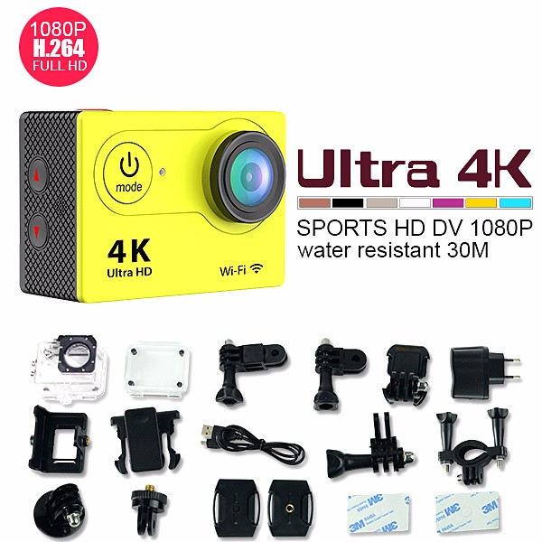 winait H9 super 4k wifi action camera with waterproof case