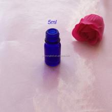 5ML10ML small glass bottle blue perfume vial for cosmetic oil