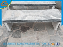 outdoor garden white grey marble bench for sale