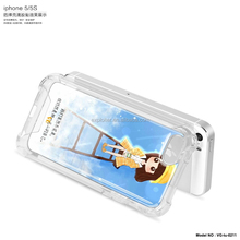 Shock-absorbing air sac gel cell phone cover for iphone 5 cover in cheap prices