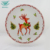 High quality dinnerware hotel used leaf shape restaurant porcelain dinner plate