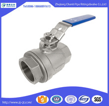 2 Piece CF8M Stainless Steel Full Bore Ball valve Price