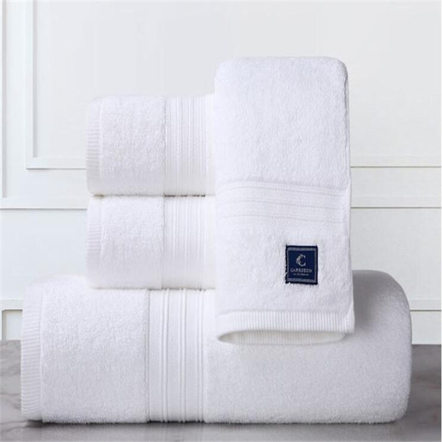 White 100% cotton airline hot face towel set