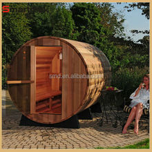 Hemlock deluxe dry steam barrel sauna