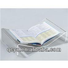 clear acrylic open desktop single book display stand