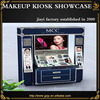 Fashion high quality display cosmetic and display store design for makeup kiosk cases