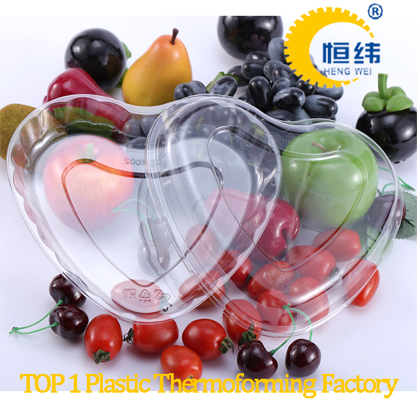 Customize PET disposable transparent plastic fresh fruit tray