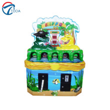 Wholesale cheap price Fun kids hot sale gun shooting redemption game machine, children hitting ticket machine