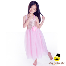 Latest Gown Designs Little Girls Dresses Pink Sequin Baby Dress Children Frocks Designs