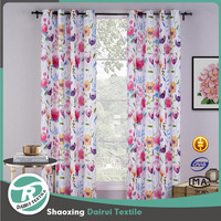 Ready made drapes and curtains luxury floral printed