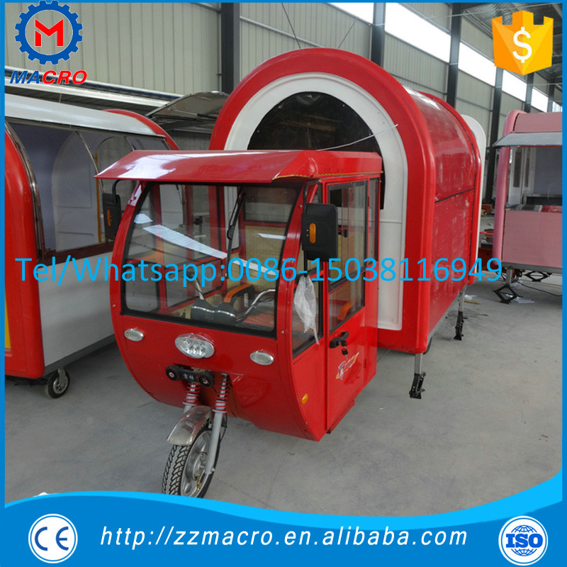 2016 trending products making snacks machine 3 wheels electric bike food cart for sale