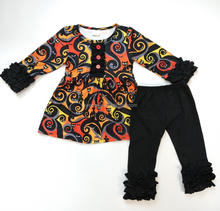 Wholesale Children Halloween Boutique clothes baby girls clothing sets printed fall winter clothing