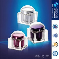 200g new arrival acrylic square acrylic storage jar for beauty salon