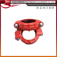 Red coupling fitting and rigid compression coupling
