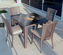 outdoor furniture dining set artificial plastic wicker sheet
