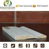 Waterproof finishing wood trim sanitary baseboard made in china