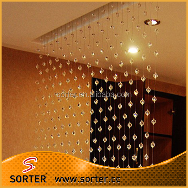 Feng Shui Fashion hanging decorative crystal beaded chain curtain