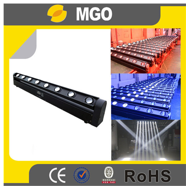 Disco light 8x10w rgbw 10w moving led bar beam wall washer light