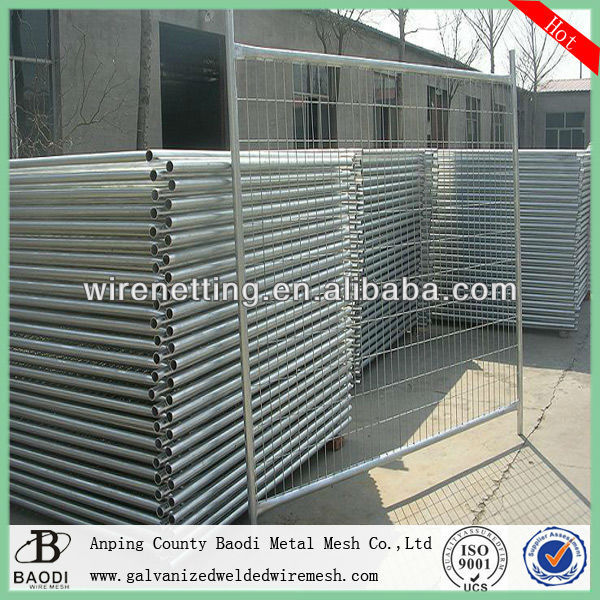 iron welded square tube temporary fence