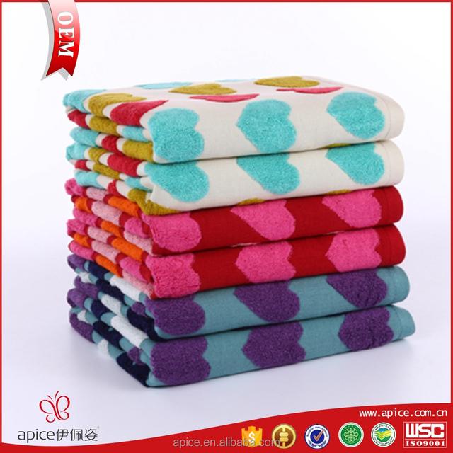 Supply all kinds of double jacquard sports bath towel bath rubbing towel