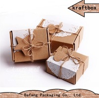 custom brown kraft gift paper box