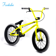 OEM new desgin light yellow 18 inch custom bmx freestyle bikes bicycle custom bmx freestyle bikes