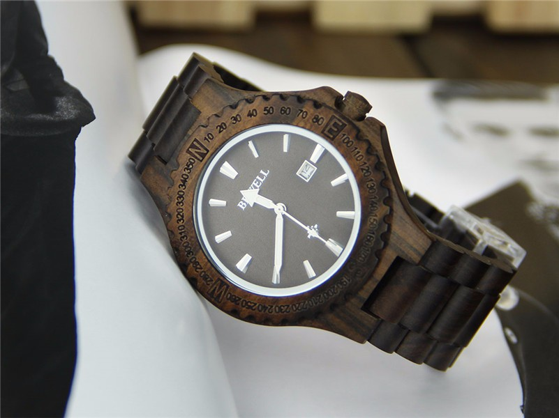 Wholesale wood quartz wrist watch