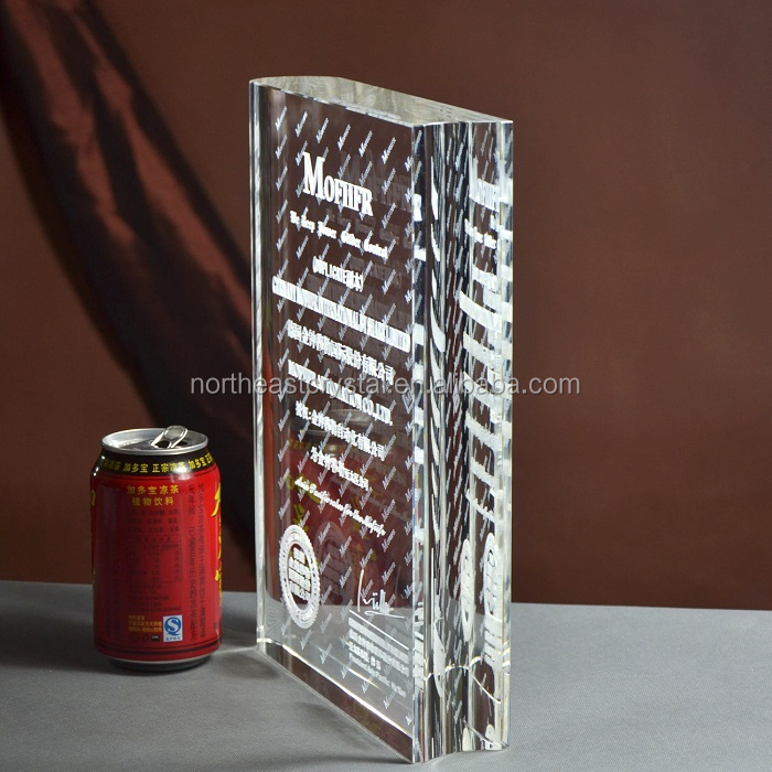 Personalized Engraving Crystal Book Trophy for Students