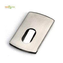 Best Selling Product In Europe Metal Push Business Card Holder With Custom Logo