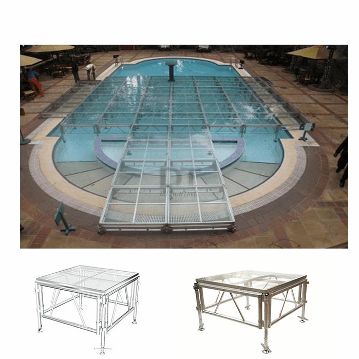 Plexi Glass <strong>Stage</strong> Portable Pool Platform Aluminium Truss <strong>Stage</strong> For Swimming Pool <strong>Stage</strong> Platform Wholesale In China