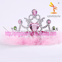 Children Hair Accessory Kids Tiara Plastic Princess Crown