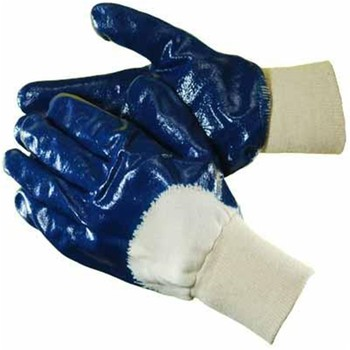 Brand MHR 15G knitted nylon spandex glove,coated black foam nitrile work gloves