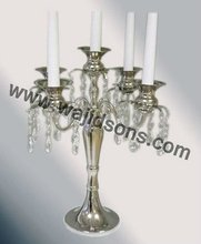 5 Light Candelabra And Hurricane