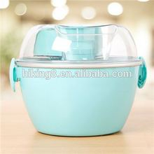Portable 2017 new electric plastic soft ice cream maker
