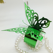 Laser cut butterfly christmas decoration paper towel holder/napkin rings