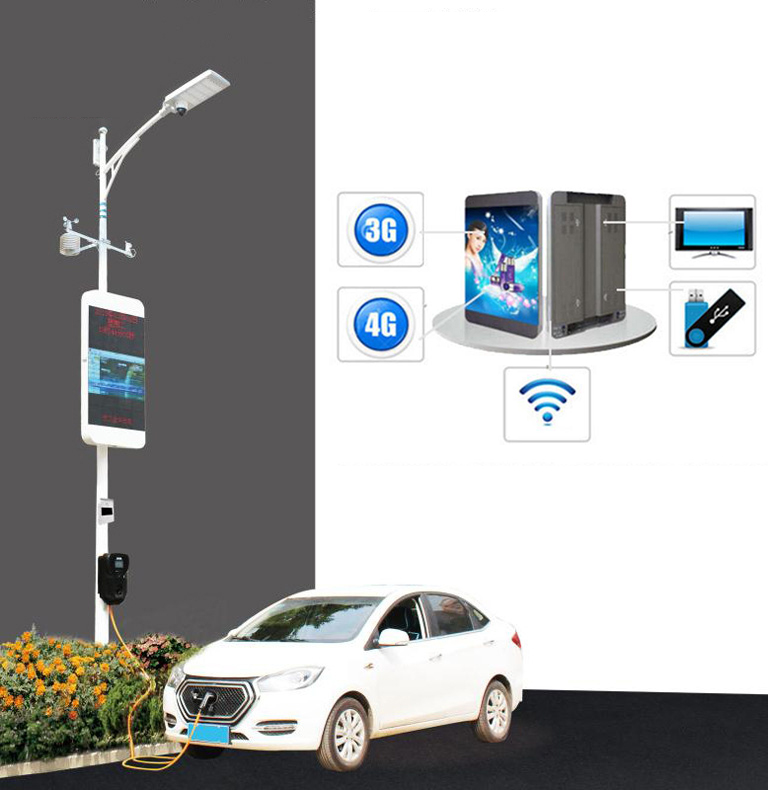 Solar power DC 12V 24V 36V input new design P5 P6.67 <strong>P10</strong> led street <strong>advertising</strong> display <strong>sign</strong> with pole