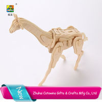 Educational Toy 3D Wooden Animal Puzzle Made in toywins