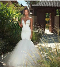 Sexy 2017 White Ivory Floor length wedding gowns Trumpet Mermaid wedding dress WW1422