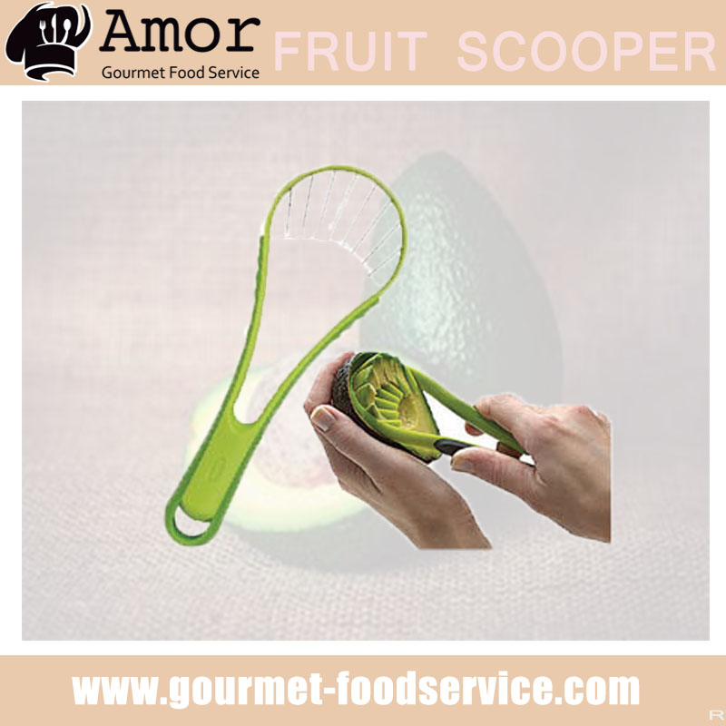 Online shopping product plastic avocado pitter slicer scooper with cutter