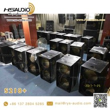 S218+ subwoofer double 18 inches pa systems 18mm plywood speaker empty box for cheap sale by china guangzhou